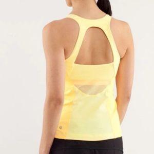 Lululemon Run Pace Tank Size 10 Yellow